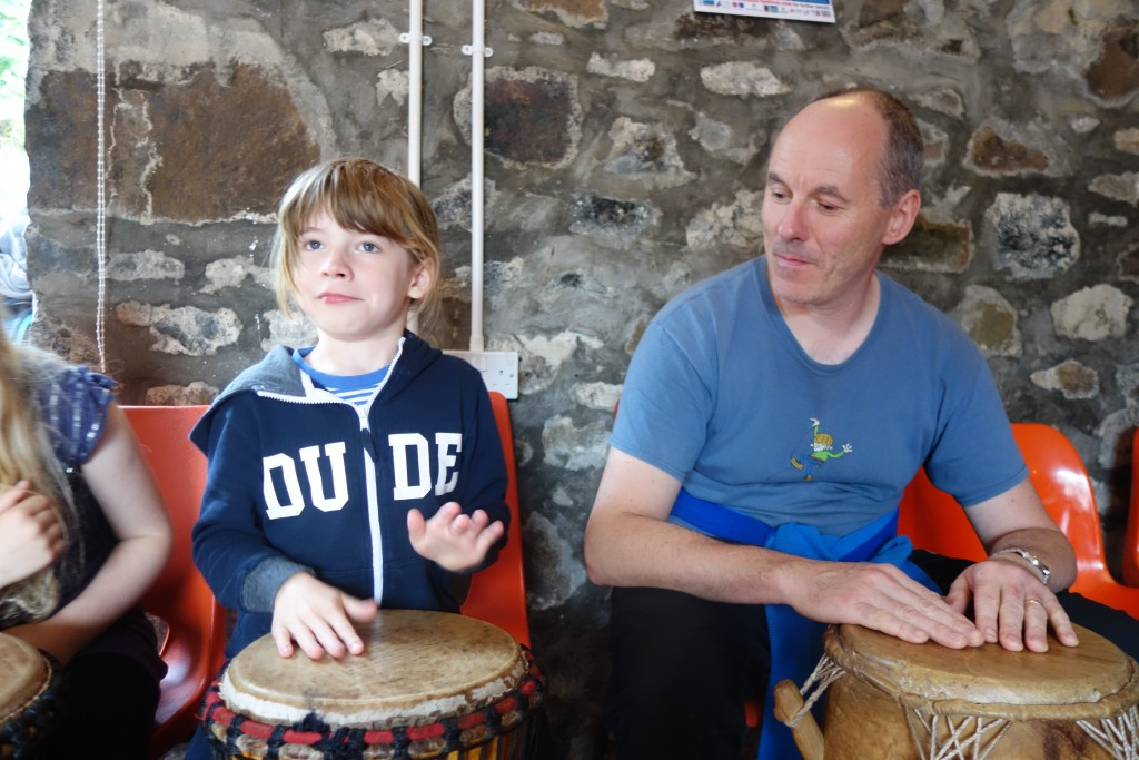 Ghanaian drumming at the Gaelic College