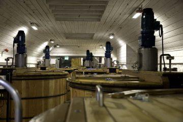 Douglas fir washbacks; image courtesy of Torabhaig Distillery