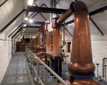Stills; image courtesy of Torabhaig Distillery